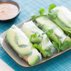 Vietnamese Summer Rolls with Spicy Peanut Dipping Sauce