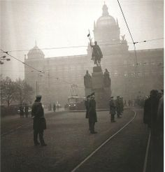 Wenceslas Square in Prague after self-immolation of Jan Palach,69' by Z.Tmej