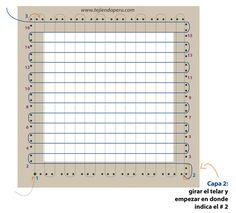 telar de mesa cuadrado - square loom