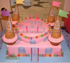 Coolest Disney Princess Castle Cake Photos Disney princess castle