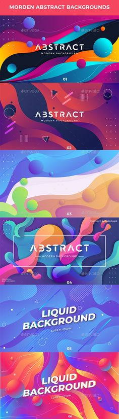 Modern Abstract Backgrounds by Dnezel | GraphicRiver