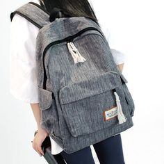 Cheap Simple Girl's Waterproof Oxford Cloth Leisure Large School Backpack Travel Backpack For Big Sale! Backpacks For Teens School, Backpack For Teens, School Bags, College Backpacks, School Ideas, School Projects, Lace Backpack, Backpack Outfit, Travel Backpack