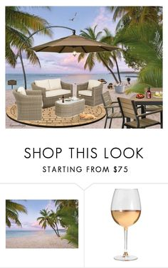 """""""EXTERIOR PRIVATE BEACH HOME"""" by arjanadesign ❤ liked on Polyvore featuring interior, interiors, interior design, home, home decor, interior decorating, Brewster Home Fashions, The Flexx, Marc Blackwell and Home"""
