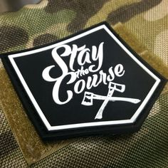 Stay The Course PVC patch- Black – Stay The Course Industries