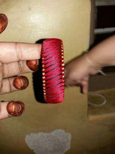 Silk Thread Jumkas, Silk Thread Bangles Design, Silk Bangles, Silk Thread Earrings, Thread Jewellery, Thread Art, Bangles Making, Jewelry Making, Bead Crafts