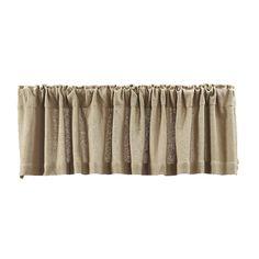 Burlap Natural Curtain Valance Burlap Valance, Burlap Fabric, Valance Curtains, Burlap Window Treatments, Bathroom Window Treatments, Country Valances, Country Curtains, Farmhouse Style Curtains, Natural Curtains