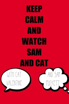 Sam and cat! Favorite Person, Favorite Tv Shows, Salmon Cat, Icarly And Victorious, Nickelodeon Shows, Sam And Cat, Keep Calm Quotes, Cat Valentine, Just Dance