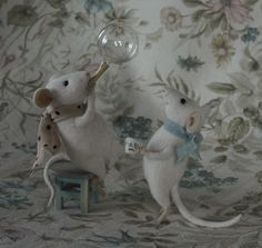 Natasha Fadeeva - Newest Work Three Blind Mice, Felt Mouse, Cute Mouse, Of Mice And Men, Silver Work, Craft Show Ideas, Cute Little Things, Needle Felting, Wool Felting
