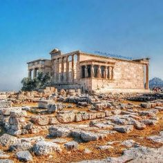 Temple of Athena Nike on the Acropolis of Athens in Greece.