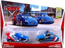 Disney / Pixar CARS Movie 1:55 Die Cast Car 2-Pack Raoul Caroule & Bruno Motoreau [WGP 6/17]