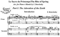 The beginning of Le Sacre du Printemps.  Stravinsky throwing down the gauntlet. The Rite of Spring changed music and us.