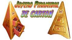 Cómo hacer un joyero alhajero de cartón piramidal: Organizador de cartón para joyas