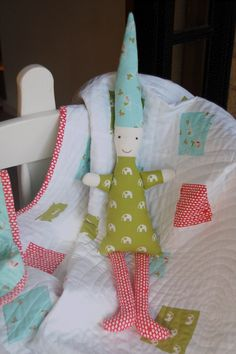 I love the idea of giving a baby a quilt with a matching doll!