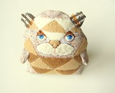 Patches++Hand+embroidered+Stuffed+Animal+by+PoofyDove+on+Etsy,+$30.00