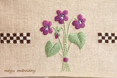 Freestyle Embroidery : Violets - Mayu Embroidery