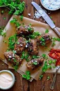 Oksedeller - med quinoa og krydderier