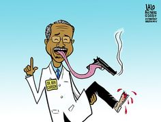 Ben Carson, proving every day that brain surgeons aren't all smart, (thanks Andy Borowitz), has shot himself in t. Political Satire, Political Issues, Political Cartoons, Oregon College, College Campus, Dr Ben, Ben Carson, Truth And Lies, Fact Quotes