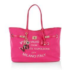 Travel with style or in pretty pink!!! We love V°73 Cruise Montenapoleone Big Tote Fuchsia www.fashionette.de