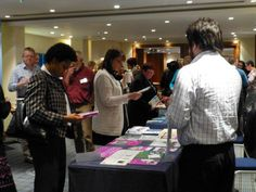 Attendees browsed our comprehensive display of materials during breaks.
