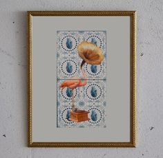 We are getting this small, framed, two piece azulejo