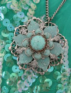 Aqua Blue Star Vintage Necklace  ...my birthday is coming up....  This could be a bridesmaid gift for Rachel -- I think she likes bohemian stuff