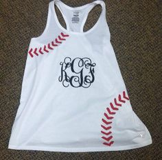 So cute for a baseball girlfriend monogrammed razor back tee on Etsy, $25.00
