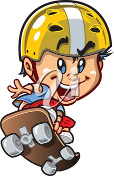 iCLIPART - Royalty Free Clipart Image of a Skateboarder