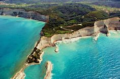 Petroulades beach, Corfu island, Ionian islands, Greece