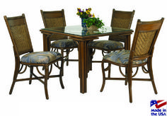 D-5 Captiva Dining Set by Stanley Chair Rattan