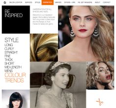 Our new inspiration page for Regis Salons.