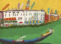 #DavidPintor #seaside #gondola #travel #traveiillustration #illustration #lindgrensmith