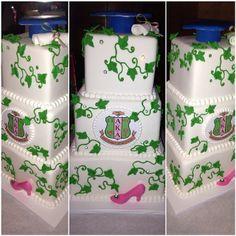 AKA three-tier graduation cake