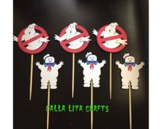 Happy Birthday Banner with Ghostbusters by GeekPrintsandGifts