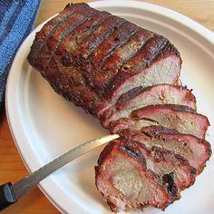 Pork Recipes : Honey Glazed Mesquite Smoked Pork Tenderloin