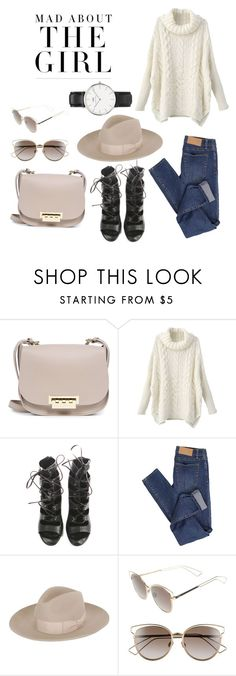 """Mad ☁️"" by ivyneaves ❤ liked on Polyvore featuring Kershaw, ZAC Zac Posen, Balmain, Cheap Monday, Super Duper, Christian Dior and Daniel Wellington"