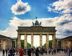 The Brandenburg Gate, Berlin, Germany.. Last time I saw this it was behind the Berlin Wall. :)  so nice to see the wall gone!