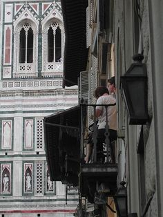 Florence. The balcony by Katherine Kenny