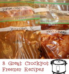 8 Great Crock pot Freezer Recipes