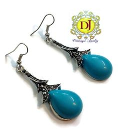 Beautiful blue dew drops #earrings #jewellery shop online with #craftshopsindia