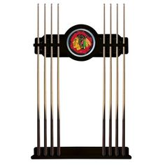 Chicago Blackhawks NHL D1 Logo Cue Rack