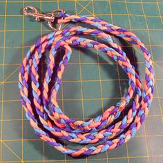 How to make your own dog leash.  This site has many options for making your own dog leashes ouf of lots of different materials.