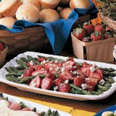 Asparagus Strawberry Salad - a personal favorite, but I use feta instead of bleu cheese