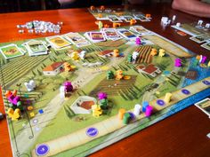 Viticulture board game: Players find themselves in the roles of people in rustic, pre-modern Tuscany who have inherited meager vineyards. They have a few plots of land, an old crushpad, a tiny cellar, and three workers. They each have a dream of being the first to call their winery a true success.