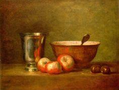 Rococo - Jean Baptiste Siméon Chardin - Le gobelet en argent
