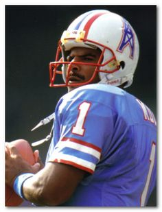 Houston Oilers - Quarterback Warren Moon. Are you old enough to remember the Oilers?