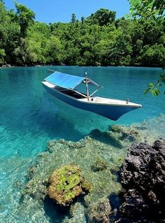 Clear water.