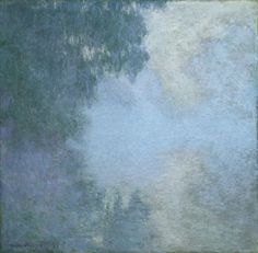 "Claude Monet / Branch of the Seine near Giverny (Mist), from the series ""Mornings on the Seine"" / 1897 / Oil on canvas"