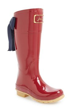 size 10 in whatever color you like :) Joules 'Evedon' Rain Boot (Women) available at #Nordstrom