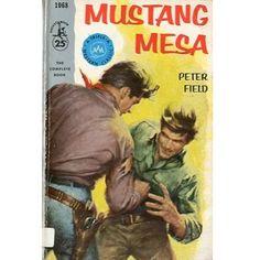 Mustang Mesa, 1955, vintage western paperback #BOOK