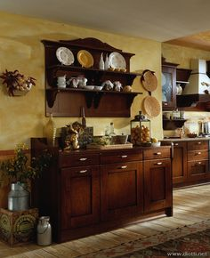 Italian kitchen - like this for dining area actually